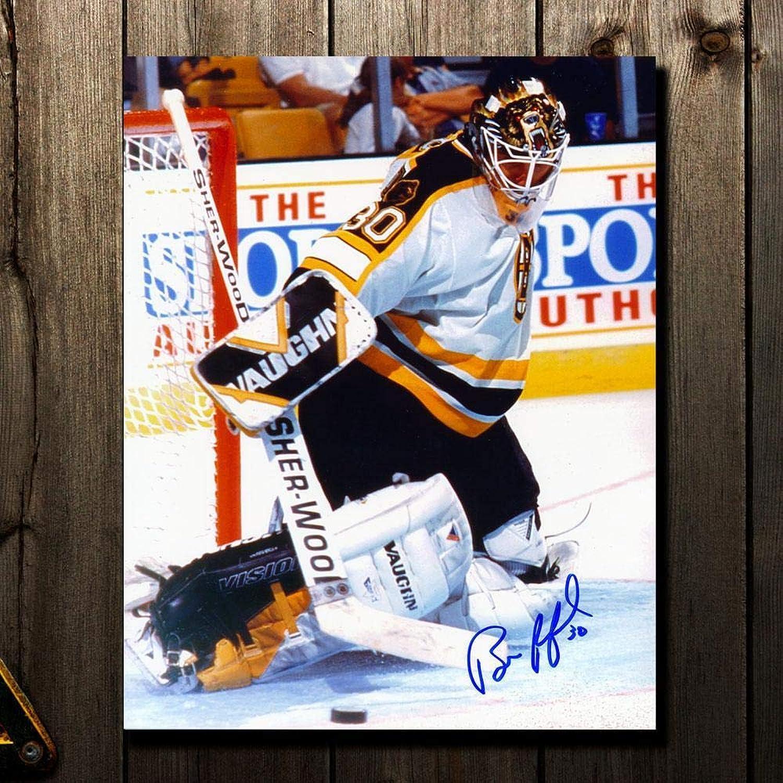 Bill Ranford Signed Photograph  Kick Save 8x10  Autographed NHL Photos