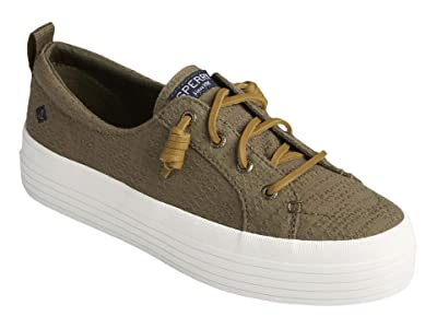 Sperry Crest Vibe Platform Smocked (Olive) Women