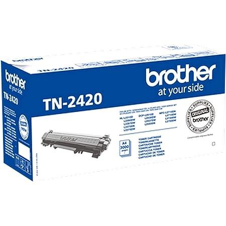 Brother TN2420 Toner Originale, Alta Capacità, fino a 3000 Pagine, per Stampanti MFCL2710DW/MFCL2710DN/MFCL2730DW/MFCL2750DW/DCPL2510D/DCPL2550DN/HLL2310D/HLL2350DW/HLL2370DN/HLL2375DW, Colore Nero