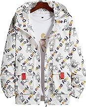 Lente herfst trend sfeer paar jas jas, unisex sportkleding, brief afdrukken mode hooded top(M, White)