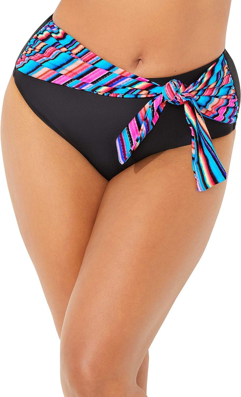 Swimsuits For All Women's Plus Size High Waist Sash Bikini Bottom