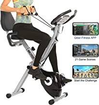 ANCHEER As Seen On TV Cycle 3-in-1 Stationary Bike - Folding Indoor Exercise Bike with APP and Heart Monitor - Perfect Home Exercise Machine for Cardio