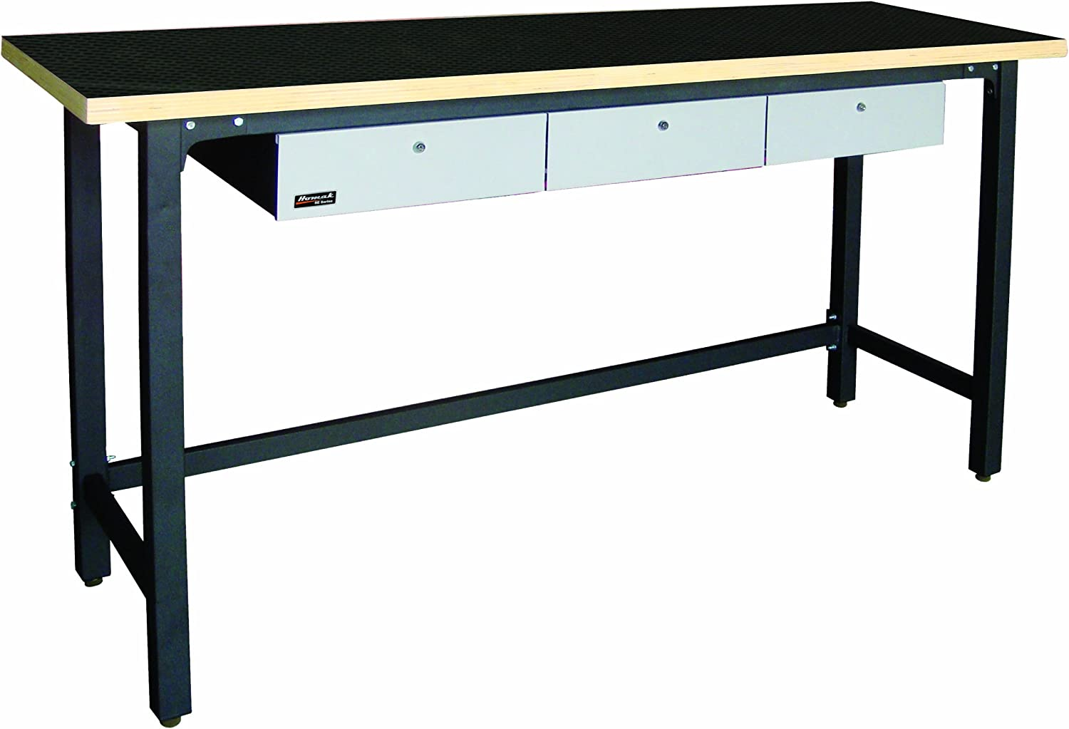 Homak 79-Inch Workbench With free Special price for a limited time shipping 3 Drawers and Steel Wood Top GS00