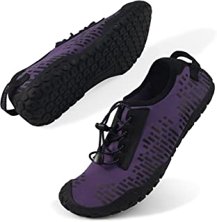 Oranginer Womens Quick Dry Water Shoes Breathable Athletic Shoes for Water Sports Outdoor Barefoot Sneakers Purple Size 6.5