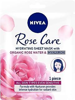 NIVEA Rose Care Hydrating Face Sheet Mask Organic Rose Water All Skin Types, 2.8g