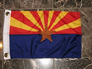 12x18 Arizona AZ State Super Poly Knitted 2ply Sewn Nylon Boat Car Flag with grommets 12