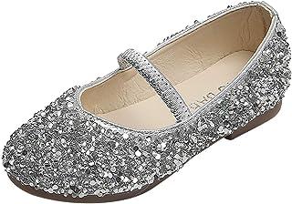 Chaussures Bébé Filles Perle Cristal Paillettes Ballerine Princesse Chaussures Sandales Semelle Souple avec Semelle Antidé...