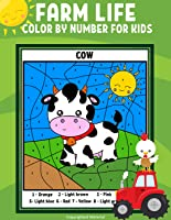 Farm Life Color By Number For Kids Printable - Cow, Pig, Horse, Sheep, Chicken, Farmer, Tractor, Dog, Cat, Barnyard and...