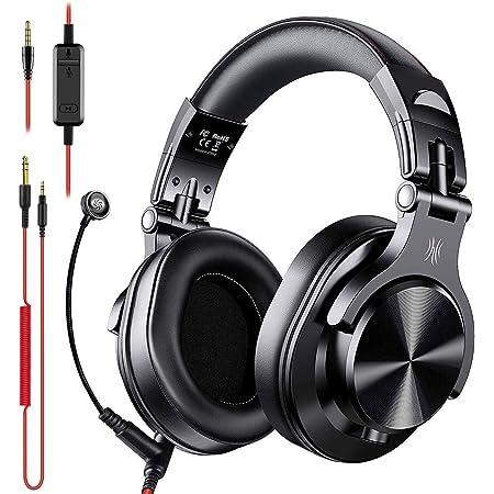 OneOdio A71 Cuffie con Microfono per PC, Cuffia DJ Studio Over Ear con Filo con Controllo del volume e Porta di Condivisione, per Skype Call, Corso in Linea, Conferenza