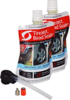 TireJect On-Road Automotive Tire Sealant Single Tire Repair Kit for Bead Leaks and Punctures (Full-Size Truck, SUV)