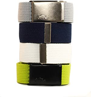 4x2 Web Pack Belts for woman. 4 belts and 2 buckles. 100% polyester (much better than cotton)