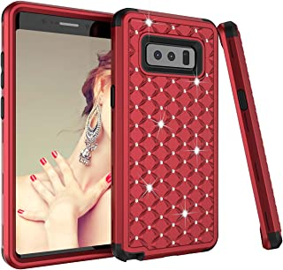 Galaxy Note 8 Case,UZER 3in1 Shockproof Luxury Glitter Sparkle 3D Bling Hard PC Soft Silicone Combo Hybrid Impact Defender Full-Body Protective Case Cover for Samsung Galaxy Note 8 2017 Release