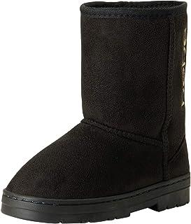 أحذية برقبة طويلة للشتاء لامعة للفتيات من بيبي مع حذاء بدون رباط كاجوال دافئ