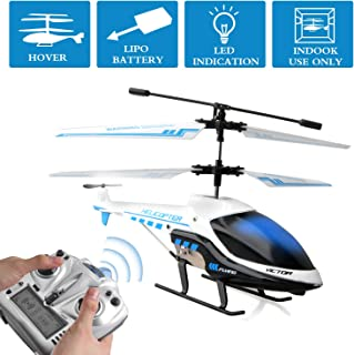 RC Plane,Refial Electric Remote Control Helicopter,Gyro and Led Light 3.5Hz Channel Alloy RC Airplane,Indoor Outdoor Micro Remote Control Plane,Best Toys Gifts for Kids Adults