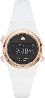 Kate Spade New York Women's Rumsey Stainless Steel and Silicone Digital Watch