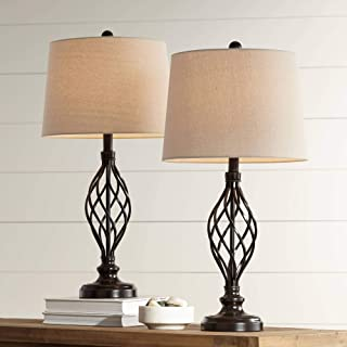 Best black iron table lamps Reviews