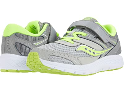 Saucony Kids S-Cohesion 13 A/C (Little Kid/Big Kid) (Grey/Citron) Boys Shoes