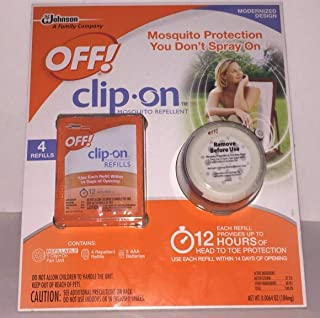 Off! Clip-on Mosquito Repellent with 4 Refills (Mosquito Protection You Don't Spray On)
