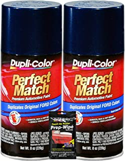 Dupli-Color True Blue Exact-Match Automotive Paint for Ford Vehicles - 8 oz, Bundles with Prep Wipe (3 Items)