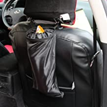 Encell Black Auto Seat Back Litter Bag Car Organizer