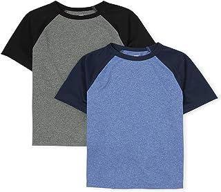 The Children's Place boys Short Sleeve Raglan Shirts, Pack of Two T-Shirt