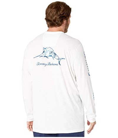 Tommy Bahama Big & Tall Big Tall Paradise Marlin Lux T-Shirt (White) Men