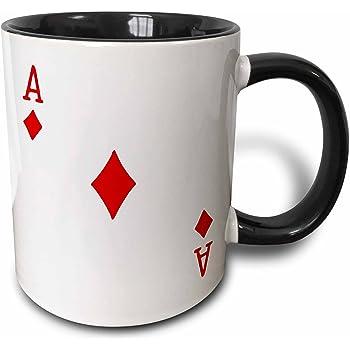 White 11 oz 3dRose mug/_112896/_1 Scattered Playing Cards Photo for Card Game Players Eg Poker Bridge Games Casino Las Vegas Night Ceramic Mug