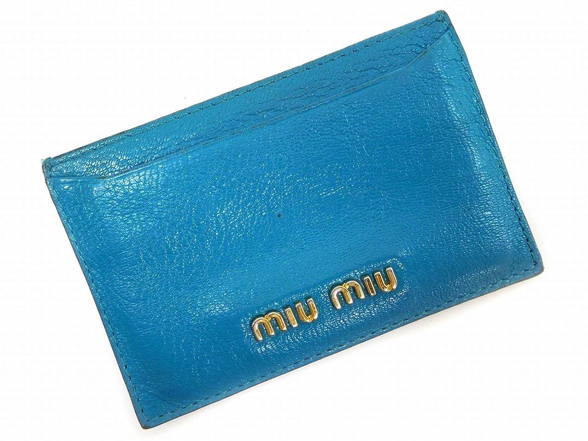太陽格納木材[ミュウミュウ] miumiu カードケース その他 エナメルレザー X7172 中古
