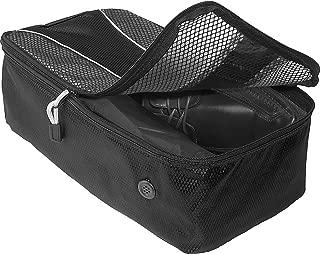 Shoe bag black with a drawer string 45 x 34cm