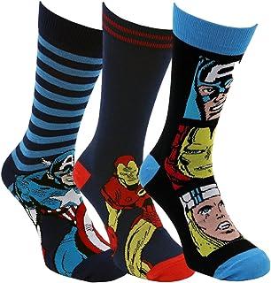 HDUK Mens Socks, 3 pares de para hombre/Boys producto oficial de Marvel Comics Dibujos animados novedad calcetines/UK 6 – 11 EUR 39 – 45