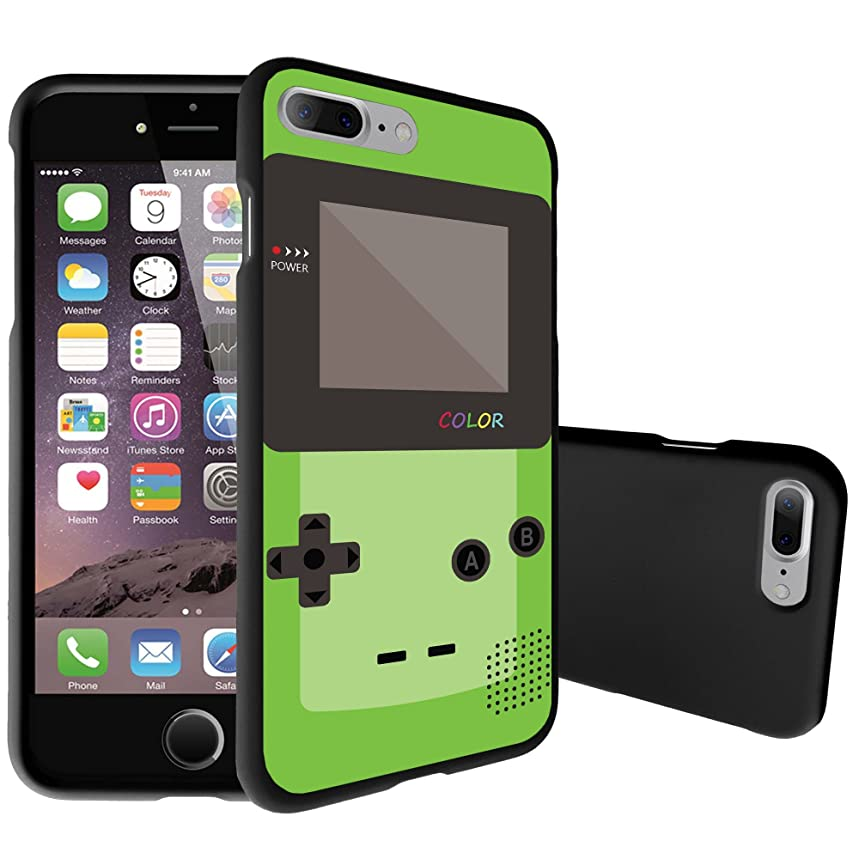 MINITURTLE Compatible with Apple iPhone 7 Plus [Snap Shell Case][Matte Black][2Part Snapon Design] Green Gameboy Color
