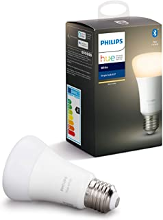 Philips Hue White Single Smart Bulb LED [E27 Edison Screw] with Bluetooth, Works with Alexa and Google Assistant [Energy C...