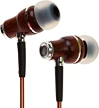 Symphonized NRG 2.0 Earbuds with Microphone, Noise Isolating Headphones Earbuds Heavy Deep Bass Earphones Ear Buds, in Ear Headphones for iPhone Android Phone iPad Tablet Laptop and More (Brown)