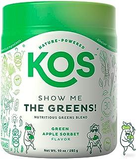 KOS Organic Greens Blend – Refreshing Green Apple Sorbet Flavor – Super..