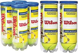 Wilson High Altitude Tennis Balls Championship – Yellow, USTA and ITF Approved - Official Ball of The US and Australian Open Grand Slam Championships - Official Ball of NCAA Tennis