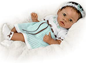 Alicia's Gentle Touch Curls Her Hand Around Your Finger So Truly Real Lifelike, Interactive & Realistic African-American Newborn Baby Doll 22-inches by The Ashton-Drake Galleries