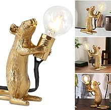 Muis bureaulamp, muislamp, bedlampje, leeslamp, hars, administratie licht, nachtlampje, huiskamer, decoratie, licht, thui...
