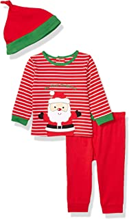 Little Me Baby-Boys LCH08878N Holiday Cotton Pants Set - red
