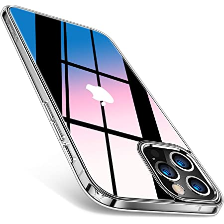 TORRAS 強化ガラス iPhone 12 用 ケース iPhone 12 Pro 用 ケース 2021年新型 高透明 日本旭硝子9H 10倍黄変防止 高耐衝撃 TPUバンパー 薄型 ストラップホール付き 6.1インチ アイフォン 12Pro用 12用カバー クリア