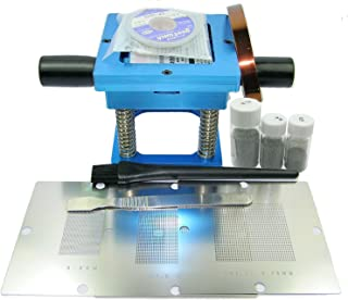 Whataval(TM) 90mm BGA Reballing Rework Station Repair Kit w/ 0.5mm 0.6mm 0.76mm Universal Stencils for Laptop Desktop Game Player