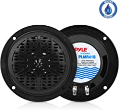 4 Inch Dual Marine Speakers – Waterproof and Weather Resistant Outdoor Audio Stereo..