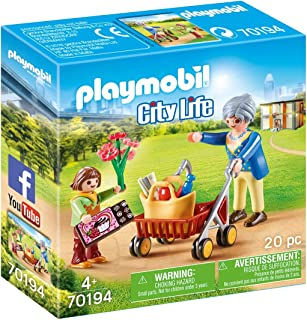 Playmobil 70194 City Life Hospital Visitor with Grandmother , for Children Ages 4+