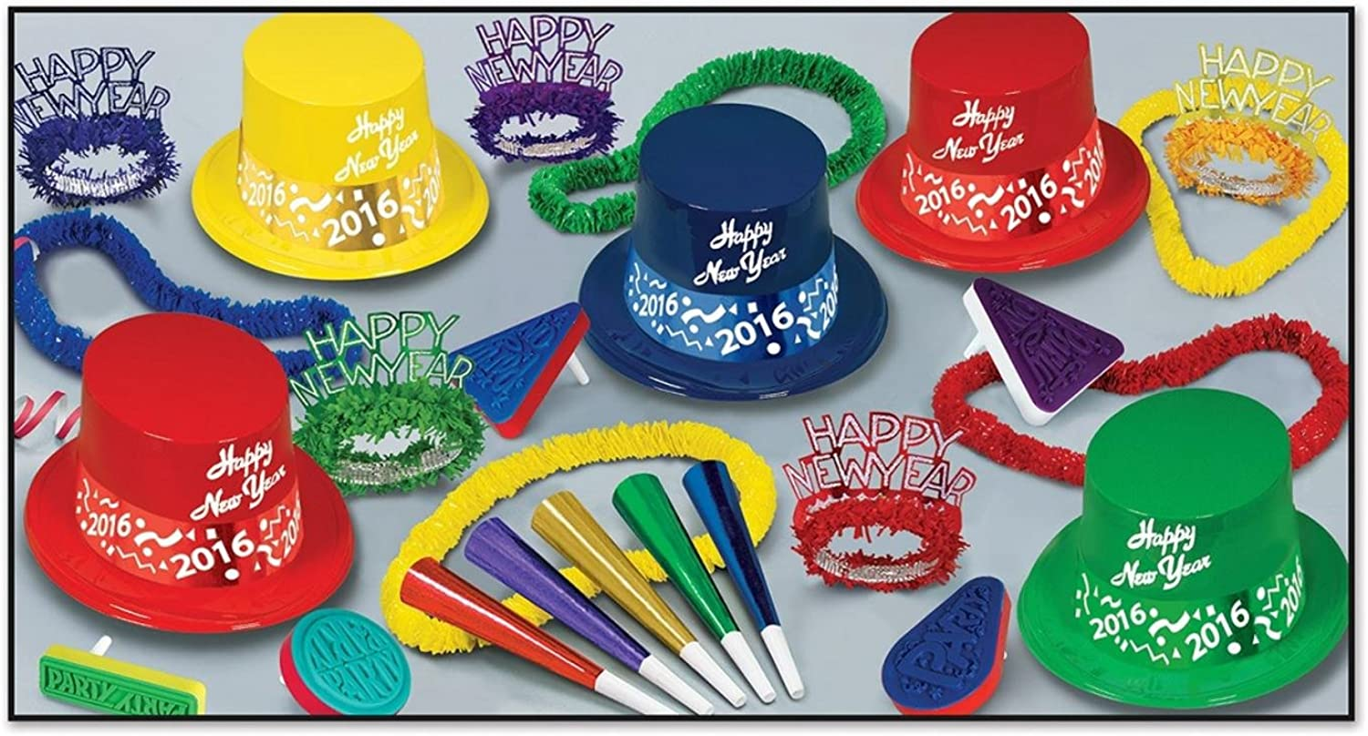 Club Pack of 50 Countdown Happy New Years  Legacy Party Favor Hat Kits