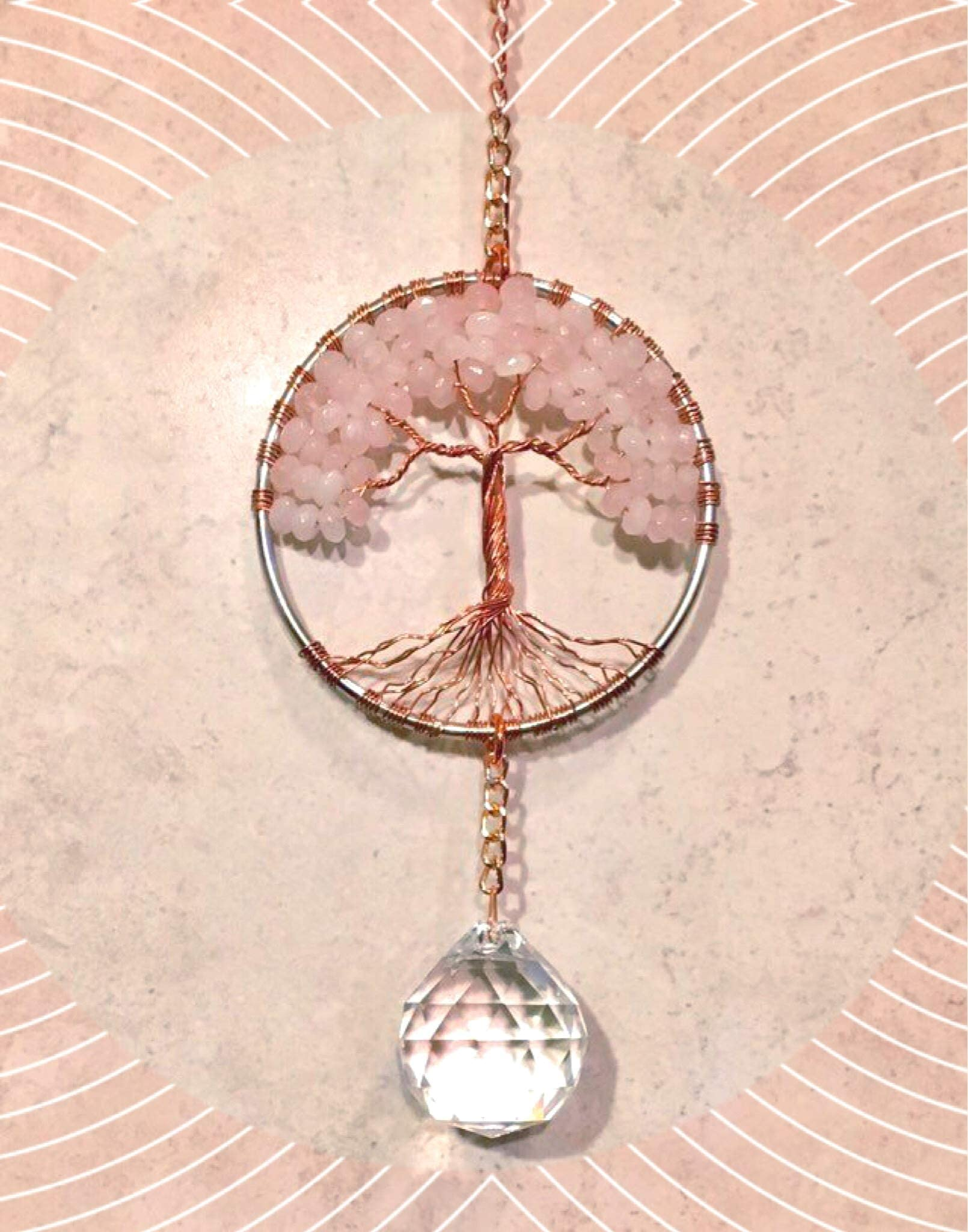11 inch  Handmade   Copper wire  Tree of Life   One of a Kind  Original Sculpture  Unique gift  Sun catcher