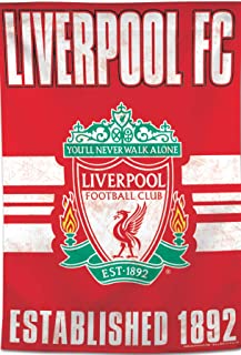 Liverpool Football Club Vertical Flag, Vintage Distressed Edition, 28x40 inches