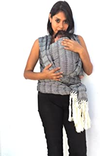 Baby wrap Carrier Mexican Hand Woven rebozo Sling (Black)197