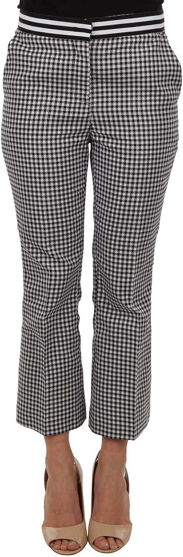 LIU JO Women's C18071T202009Y21 White Black Polyester Pants