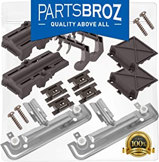 W10712394 Dishwasher Rack Adjuster Kit for Whirlpool & Kenmore Dishwashers by PartsBroz - Replaces Part Numbers W10712394, AP5956100, W10350376, PS10064063, W10238418, W10253546, W10712394VP