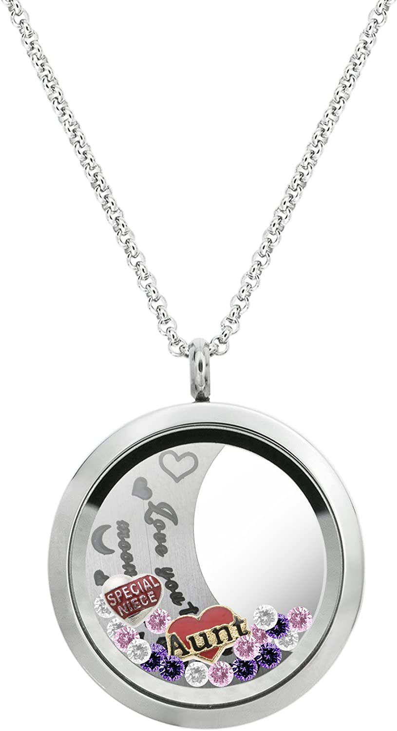 Dreambell Love You to The Moon Floating Steel Back and Stainless Factory Max 59% OFF outlet