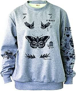 Women's Butterfly Tattoos Sweatshirt Grey